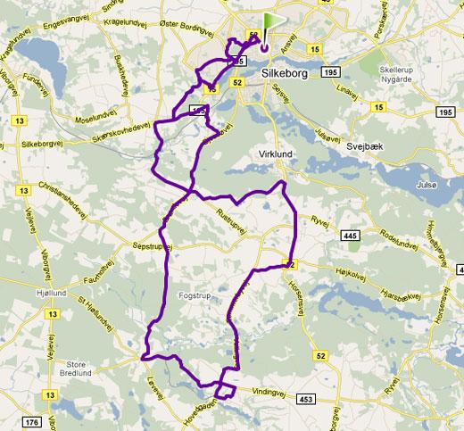 Cykelrute Silkeborg bakkerute