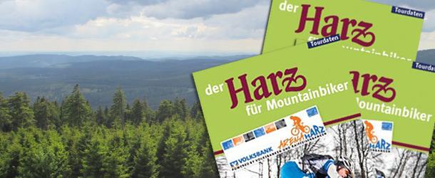 Kort med mountainbikespor i Harzen