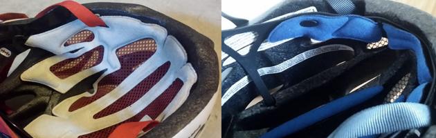 Cykeljkelm - puder og justering