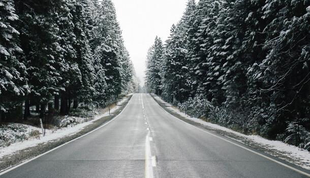 vinter cykling på landevej